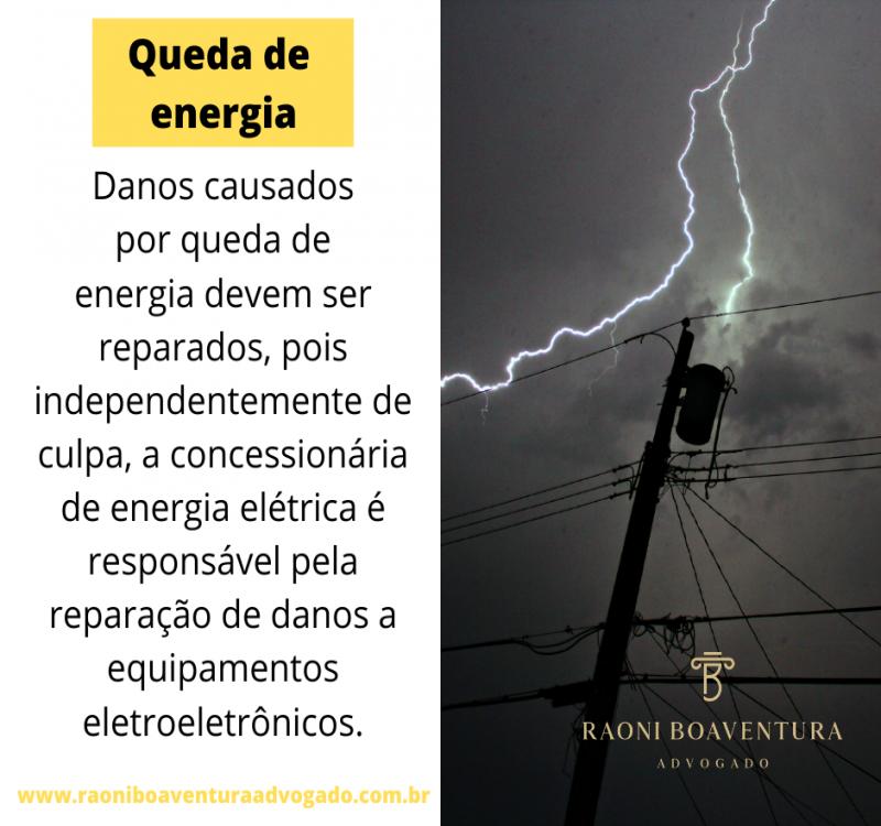 Prejuízos causados por queda de energia devem ser reparados
