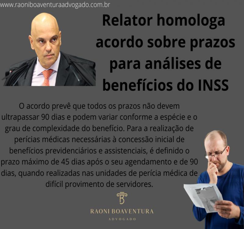 Relator homologa acordo sobre prazos para análises de benefícios do INSS