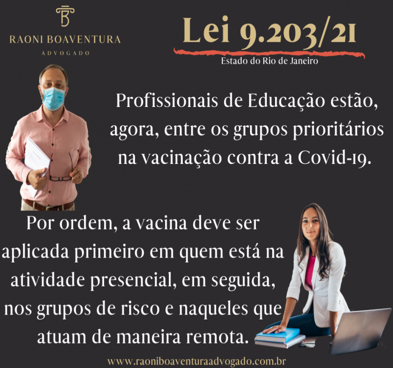 Definida prioridade de vacinação entre  profissionais da educação