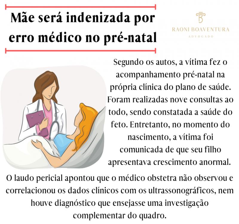 Mãe será indenizada por erro médico no pré-natal